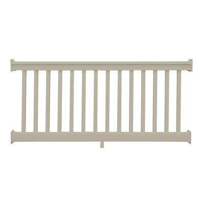 Riviera 3 ft. H x 6 ft. W Khaki Vinyl Railing Kit