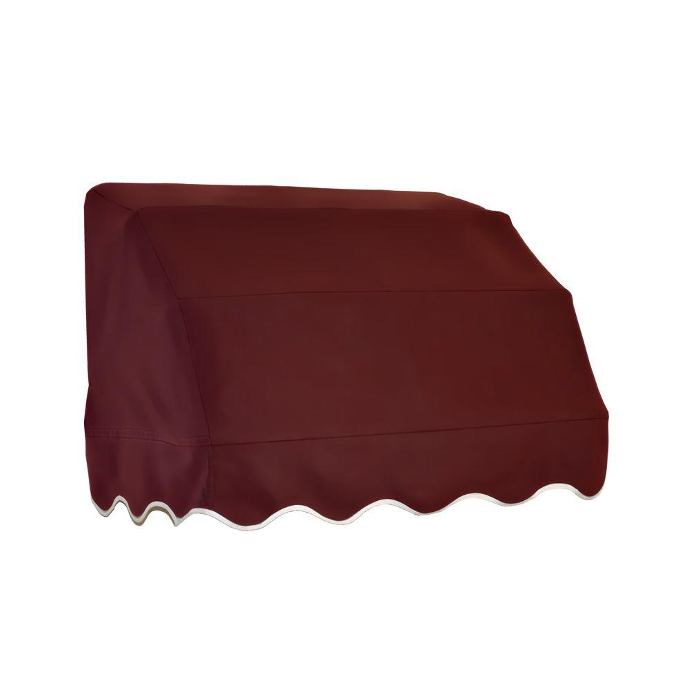 Beauty-Mark 3 ft. Vermont Waterfall Awning (31 in. H x 24 in. D) in Burgundy