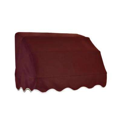 4 ft. Vermont Waterfall Awning (31 in. H x 24 in. D) in Burgundy