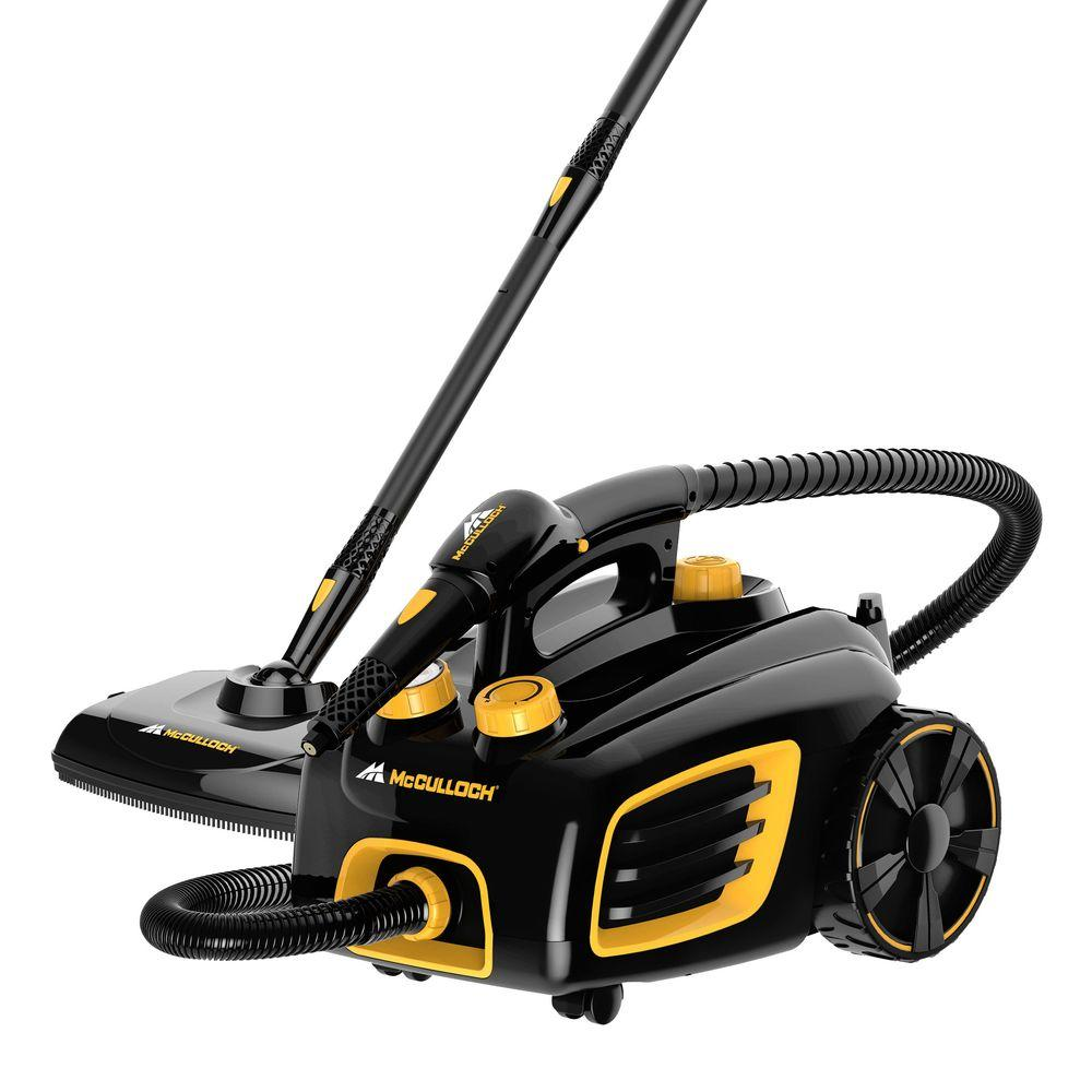mcculloch multi purpose canister steam cleaner mc1375 the home depot. Black Bedroom Furniture Sets. Home Design Ideas