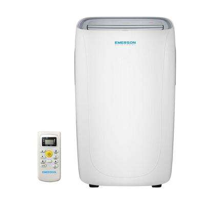 8,000 BTU 115-Volt Portable Air Conditioner with Dehumidifier Function and Remote in White