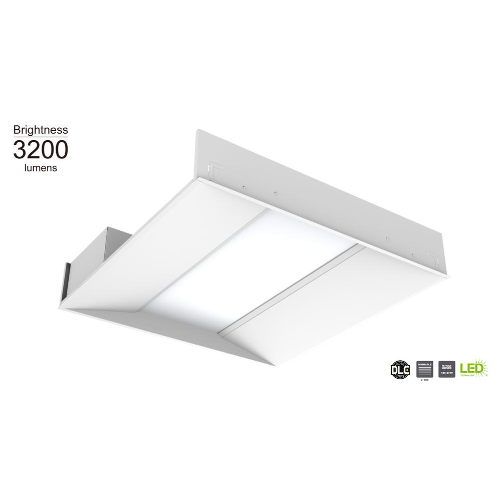 Commercial Electric 2 ft. x 2 ft. 48- Watt Equivalent White Integrated LED Troffer
