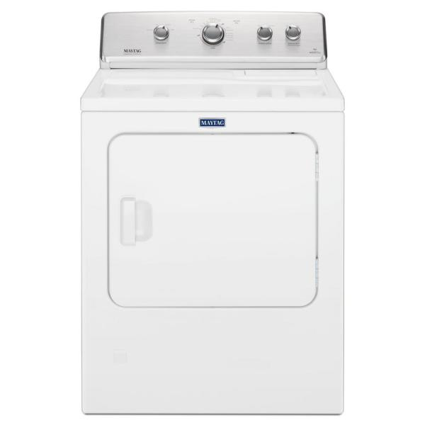 Maytag 7 0 Cu Ft 120 Volt White Gas Vented Dryer With Wrinkle Control Mgdc465hw The Home Depot