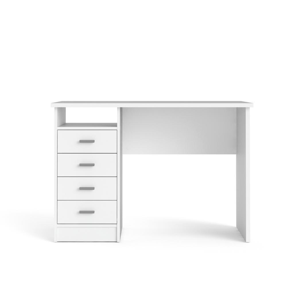 Tvilum 43 31 In White Rectangular 4 Drawer Writing Desk With