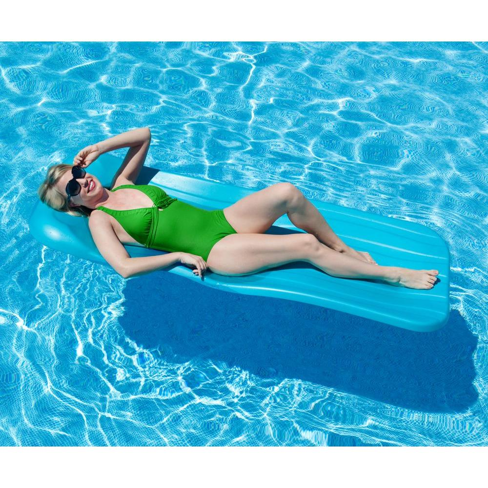 1.75 in. Thick Deluxe Cool Aqua Pool Float, Turquoises/Aquas