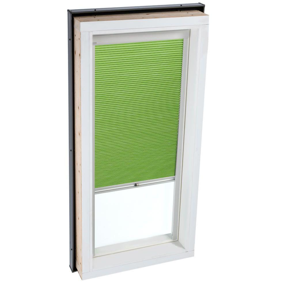 Velux manual room darkening green skylight blinds for fcm for Velux window shades