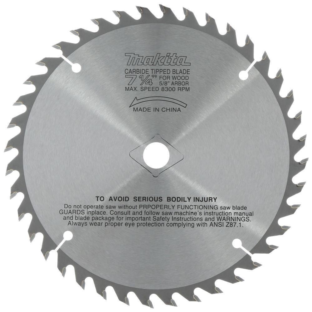 7-1/4 in. 40 Teeth per in. Fine Cross Cutting Carbide-Tipped Circular Saw Blade