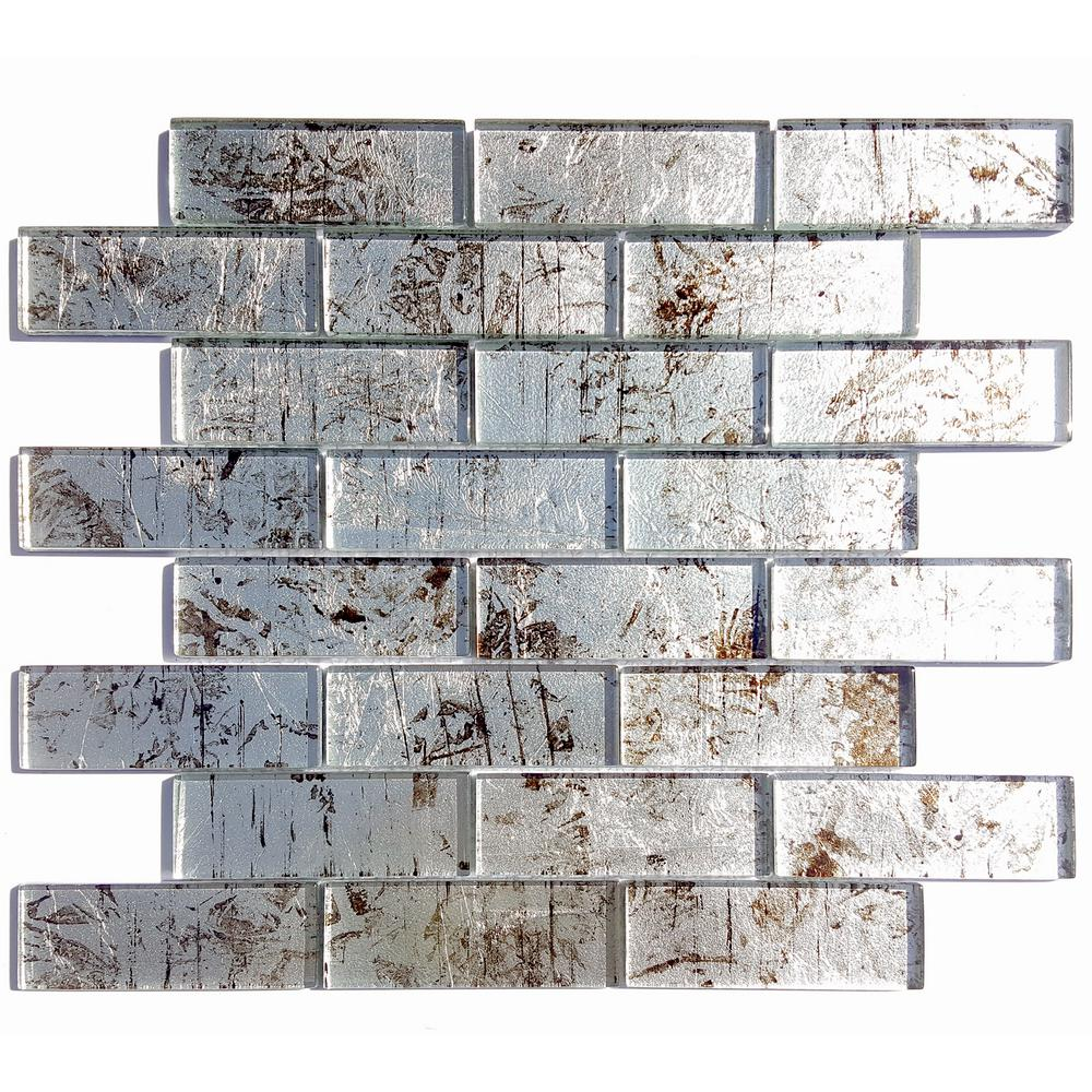 Solistone folia silver maple 12 in x 12 in x mm for Installing glass tile with mesh back