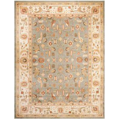 Heirloom Blue/Creme 5 ft. 3 in. x 7 ft. 6 in. Area Rug