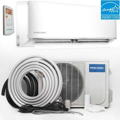Oasis ENERGY STAR 9,000 BTU 3/4 Ton Ductless Mini-Split Air Conditioner and Heat Pump - 230V/60Hz