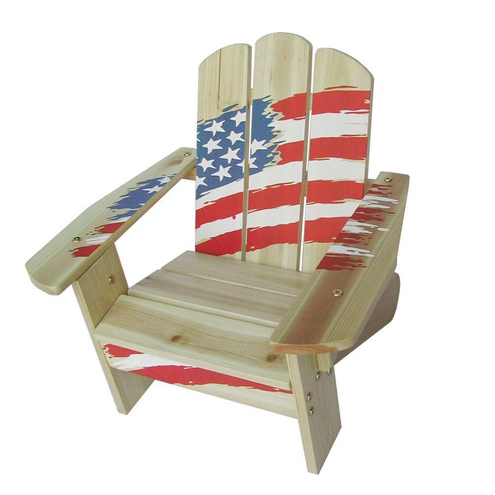 Lohasrus Flag Collection Kids Patio Adirondack Chair