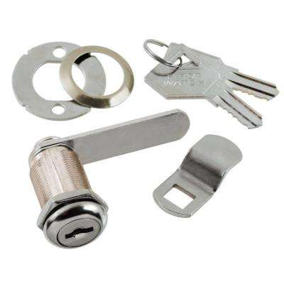 1-1/8 in. Chrome Cabinet and Drawer Utility Cam Lock