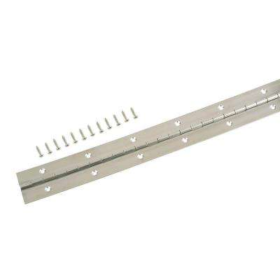 1-1/2 in. x 72 in. Stainless Steel Continuous Hinge
