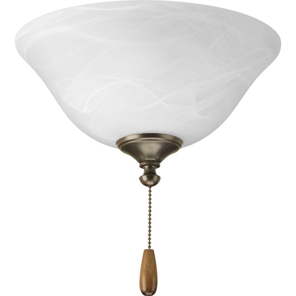 Progress Lighting AirPro 2-Light Antique Bronze Ceiling Fan Light-DISCONTINUED
