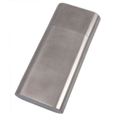 Colton Brushed Steel Larger Ring Gauge Cigar Case