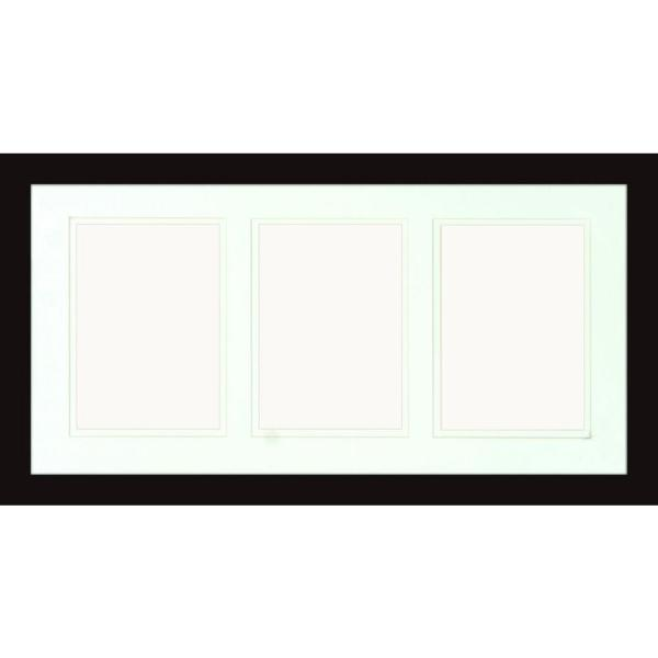 3-Opening Holds (3) 5 in. x 7 in. Matted Black Photo Collage Frame (Set of 2)