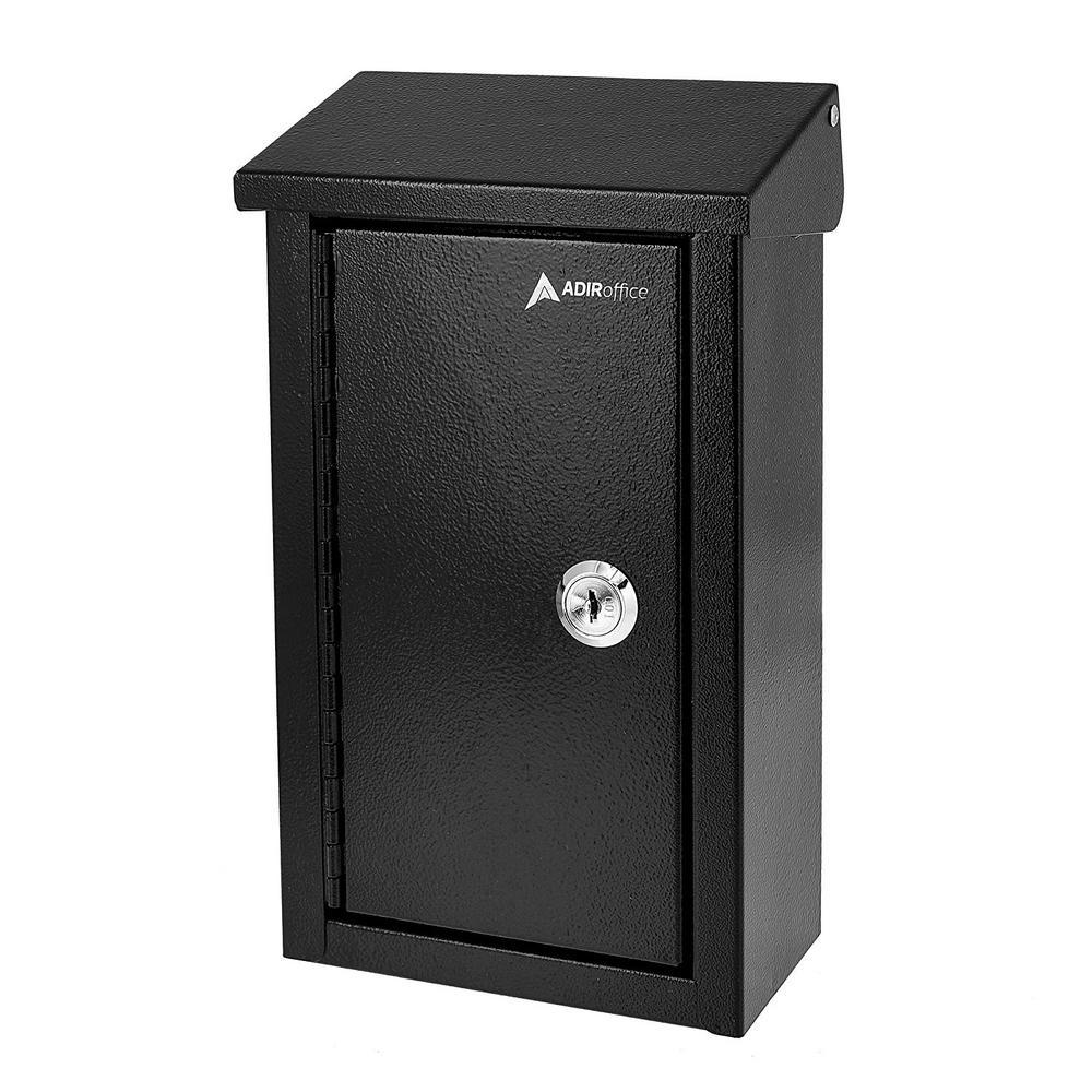 Large Black Steel Heavy-Duty Outdoor Key Drop Box