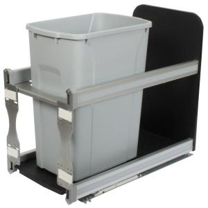 Knape & Vogt 19.19 inch x 11.81 inch x 22.44 inch In Cabinet Soft Close Pull Out Trash Can by Knape & Vogt