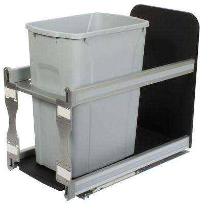 19.19 in. x 11.81 in. x 22.44 in. In Cabinet Soft Close Pull Out Trash Can