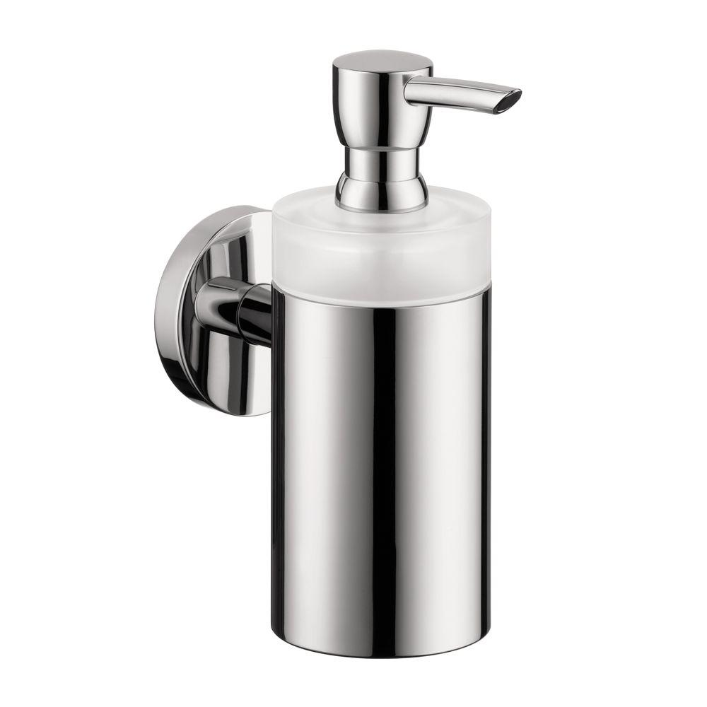 Hansgrohe Wall-Mount Brass and Plastic Soap Dispenser in Chrome (Grey)