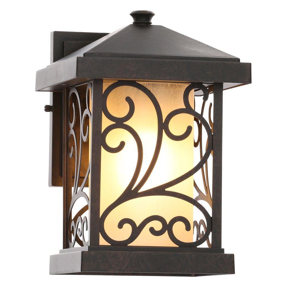 Progress Lighting Cypress Collection 1-Light Forged Bronze Outdoor Wall-Mount Lantern