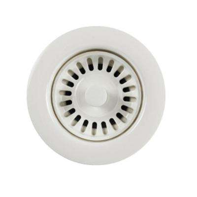 3.5 in. Opening White Disposal Flange