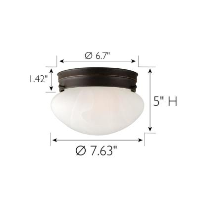 Millbridge 1-Light 7-5/8 in. Oil Rubbed Bronze Ceiling Semi Flush Mount Light Fixture