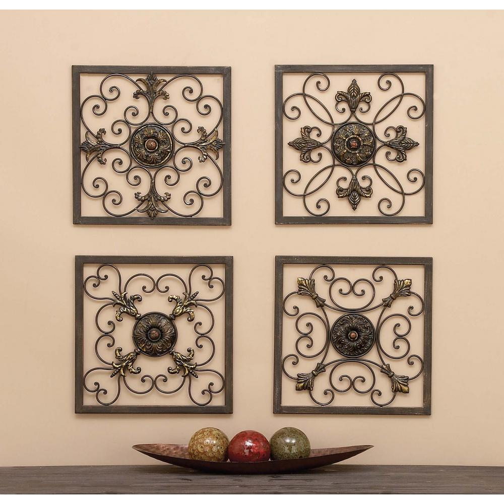 Clic Wrought Iron Wall Plaque Set