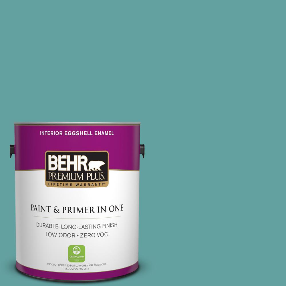 BEHR Premium Plus 1-gal. #T13-20 Folk Song Zero VOC Eggshell Enamel Interior Paint