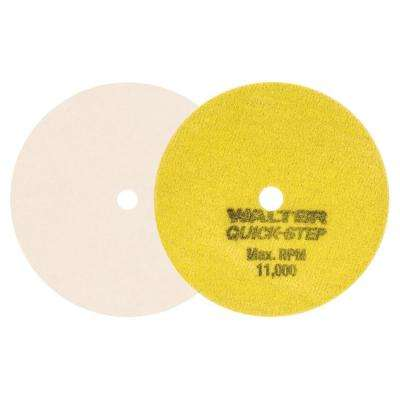 Quick Step 4.5 in. GR Cotton Polishing Felt Discs (Pack of 5)