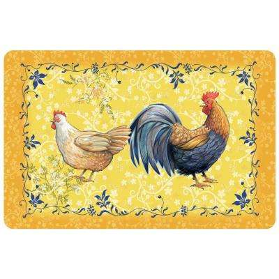 New Wave Rooster Gold 23 in. x 36 in. Neoprene Mat