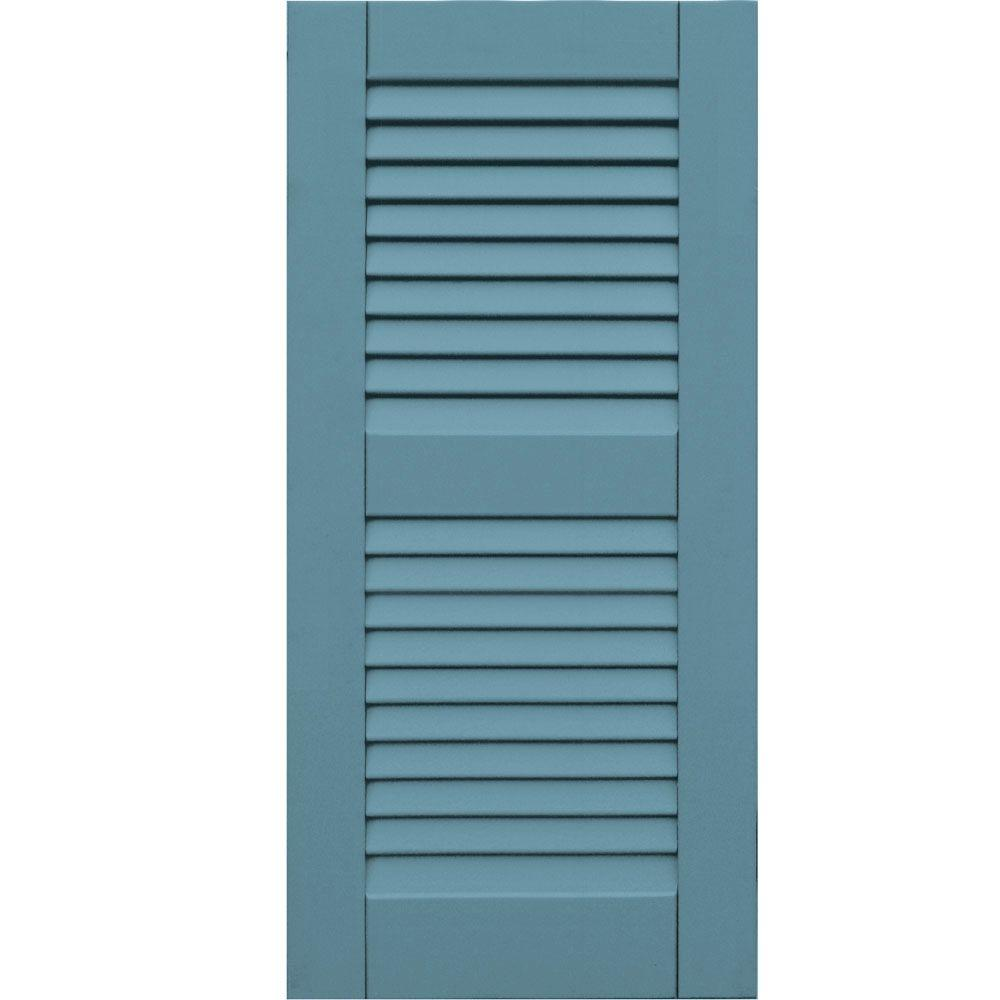 Winworks Wood Composite 15 in. x 32 in. Louvered Shutters Pair #645 Harbor