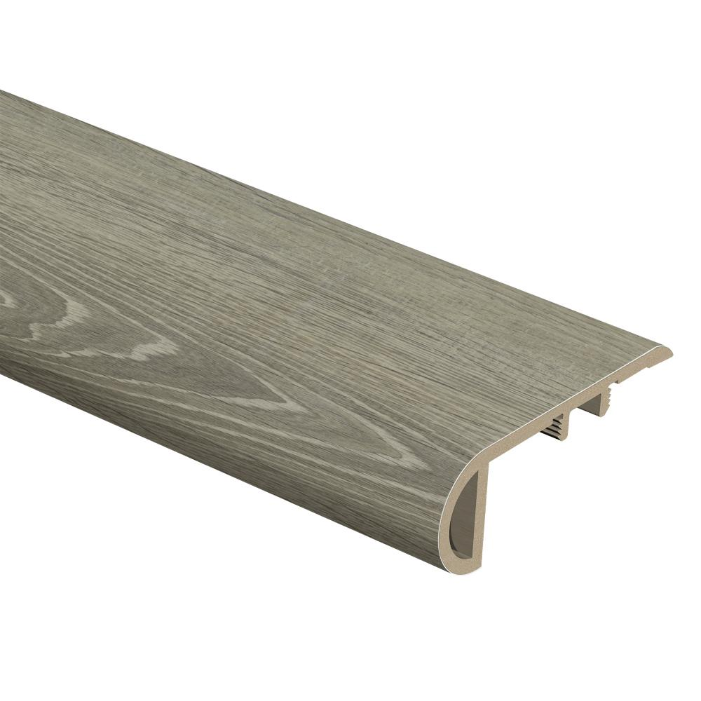 Zamma Sterling Oak 1 In Thick X 2 Wide 94 Length Vinyl Stair Nose Molding 0157543691 The Home Depot