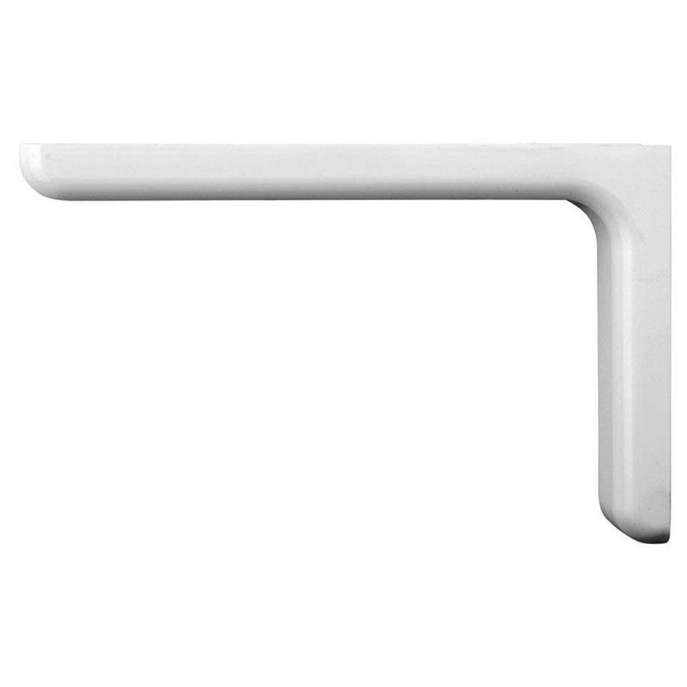 9.1 in. x 5.8 in. White Designer Shelf Bracket
