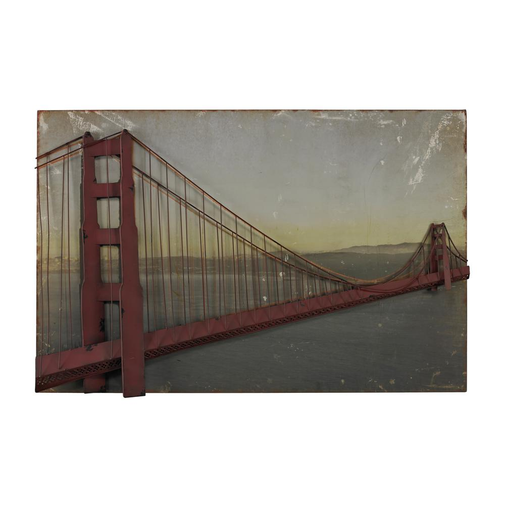 "28 in. x 43 in. ""Golden Gate Bridge"" Printed Canvas Wall"