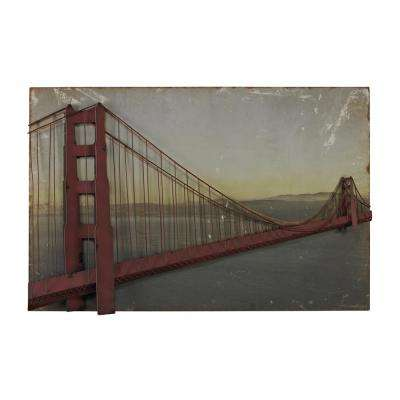 "28 in. x 43 in. ""Golden Gate Bridge"" Printed Canvas Wall Art"