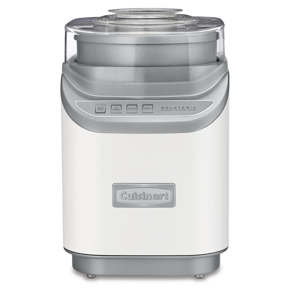 Cuisinart Cool Creations 2 Qt. White Electric Ice Cream Maker with Recipe Booklet