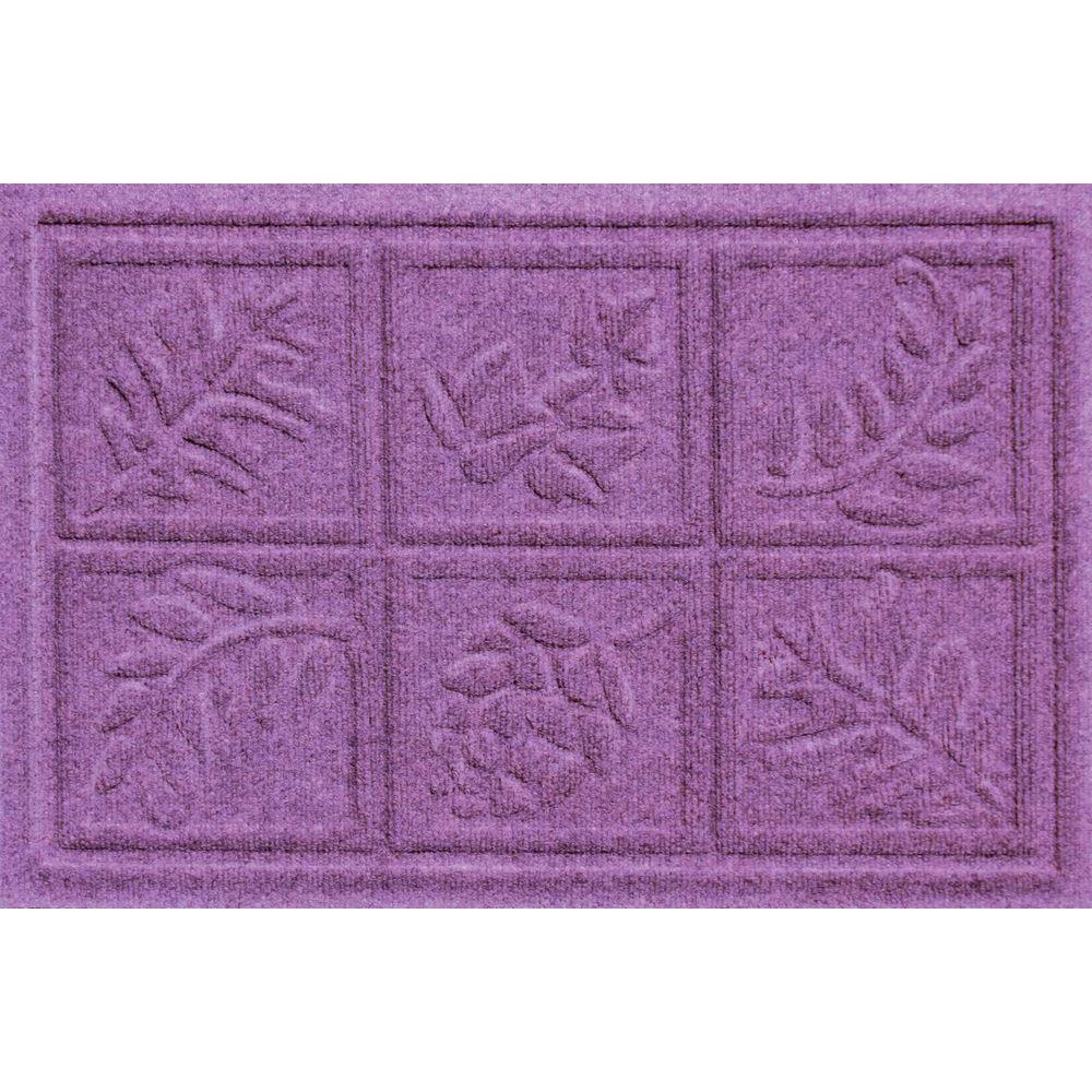 Bungalow Flooring Aqua Shield Nature Walk Purple 17.5 inch x 26.5 inch Door Mat by Bungalow Flooring