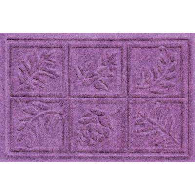 Aqua Shield Nature Walk Purple 17.5 in. x 26.5 in. Door Mat