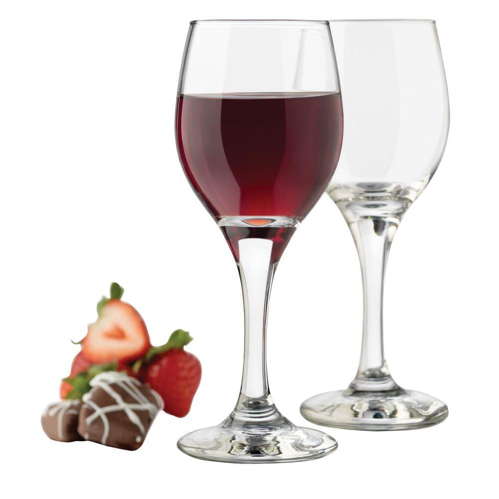Libbey 4.1 oz. 12-Piece Mini Wine Tasting Glass Set in Clear
