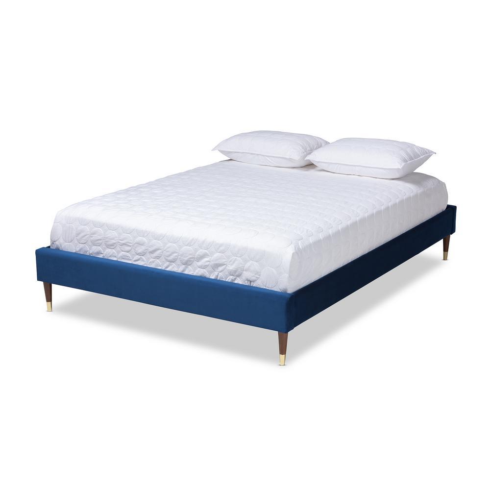 Volden Royal Blue King Platform Bed Frame