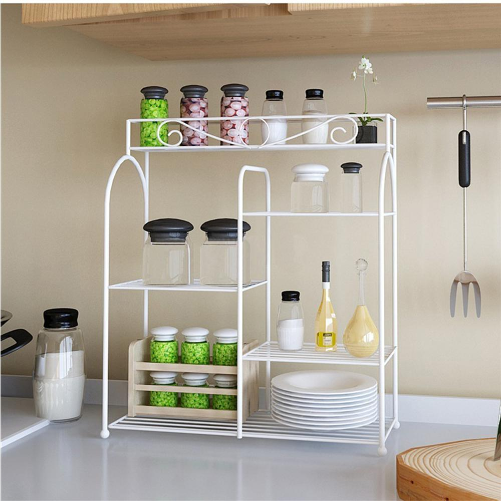 Beau Furinno Yijin White Metal Kitchen Organizing Rack