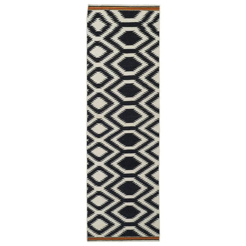 Kaleen Nomad Black 3 ft. x 8 ft. Runner Rug