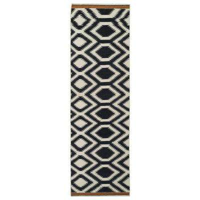 Nomad Black 3 ft. x 8 ft. Runner Rug