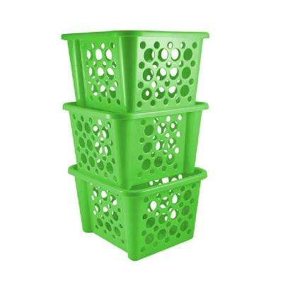 Stackable Basket in Green (3-Pack)