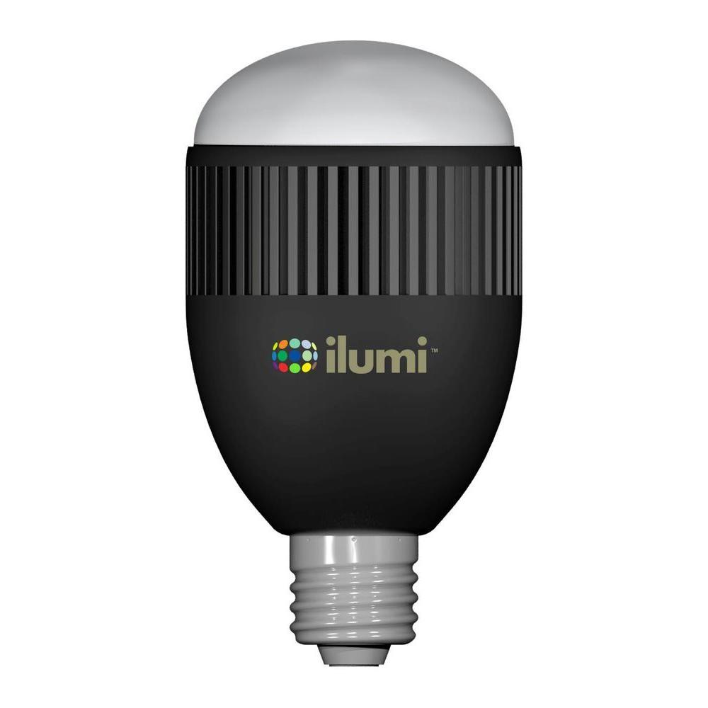 ilumi 60W Equivalent Color-Tunable (2000K-8000K) A21 Bluetooth LED Smart Bulb - Jet Black