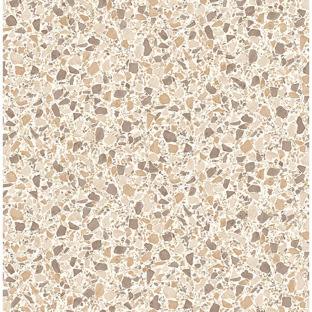 Fine Decor Aldrich Beige Terrazzo Wallpaper Sample