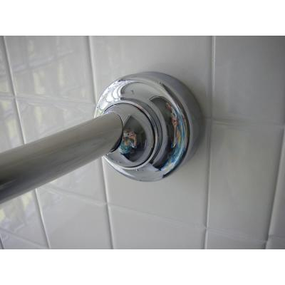60 in. Stainless Steel Rotating Curved Shower Rod in Bright Chrome