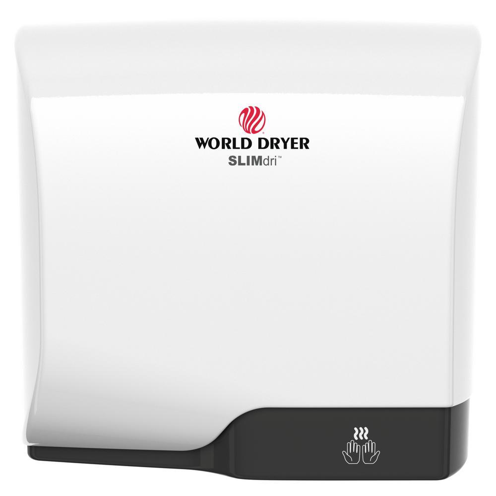 WORLD DRYER SLIMdri Hand Dryer in Brushed Stainless Steel WORLD DRYER SLIMdri Hand Dryer in Brushed Stainless Steel.
