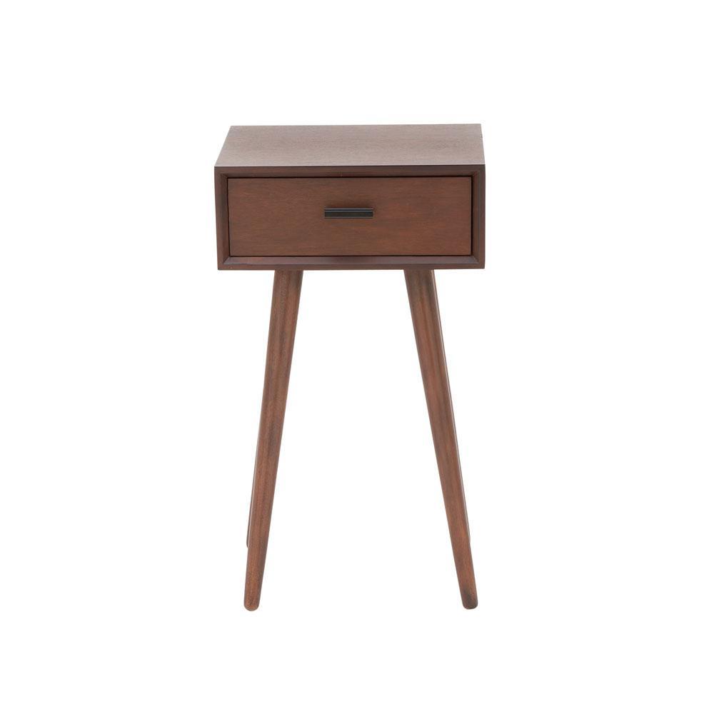 Litton Lane 1 Drawer Modern Brown Wooden Accent Table